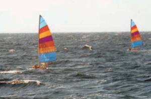 Sailboats race through the Florida Straits on their way to Cuba in the 1990s. The early incarnation of the Havana Challenge started among a group of Key Westers in the late '90s. After a lengthy hiatus, the event will return next month when teams of Key West sailors head from the Southernmost City to the island nation.